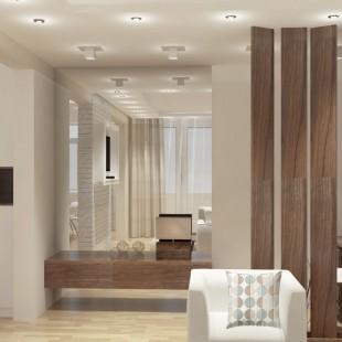 moderna dnevna soba sa velikim ogledalom