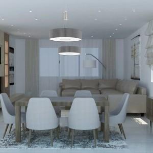 moderna dnevna soba - bež braon