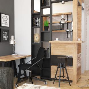 šank i kuhinja - industrijski (loft) stil