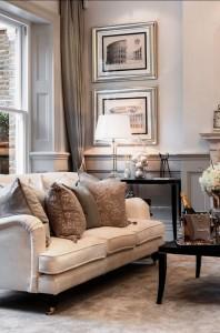 dnevna soba uređena u klasičnom stilu