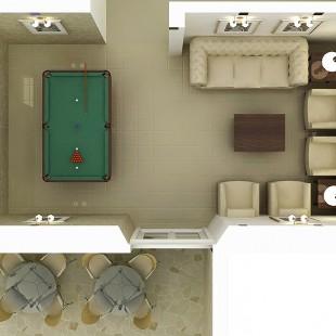 hotel Avanta (Prčanj, Crna Gora) - soba za zabavu (odozgo)