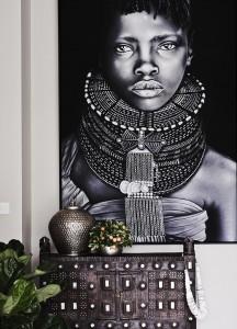 uređenje enterijera u etno afričkom stilu