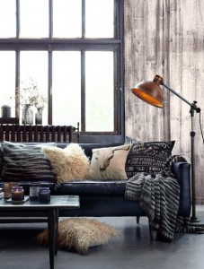 dizajn dnevne sobe u industrijskom stilu