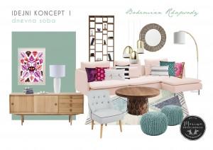 dnevna soba - Bohemian Style