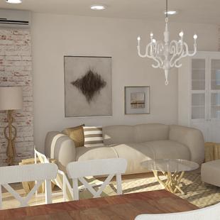"dnevna soba - ""beach cottage style"""