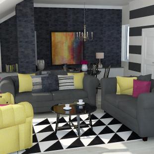 dnevna soba u glamur stilu
