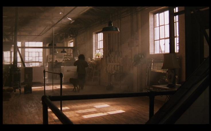enterijer iz filma Flešdens - industrijski stil