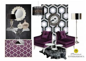 dnevna soba - glamur stil