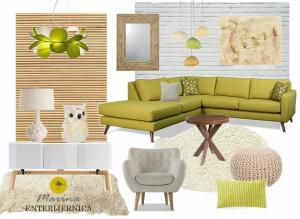 dnevna soba - retro & skandinavski (natur) stil