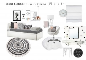 moodboard-1a- (soba za tinejdžaerku - crno bela)
