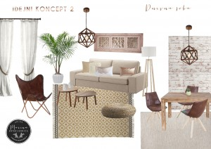 moodboard-2 - moderna dnevna soba (natur)