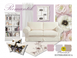 dnevna soba - romantičan stil