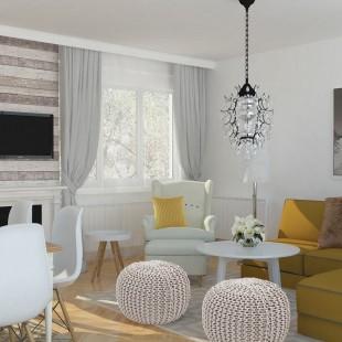dnevna soba i trpezarija u skandinavskom stilu