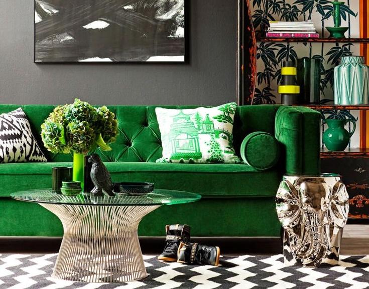 zelena-boja-u-dnevnoj-sobi