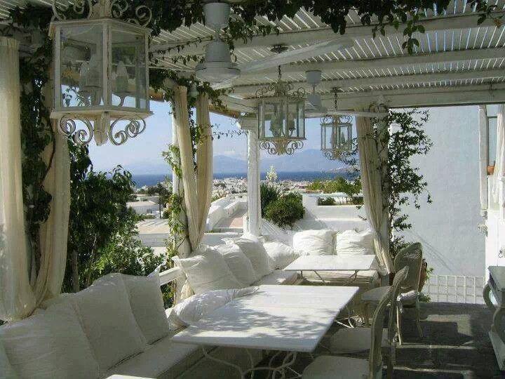 romantično uređenje terase