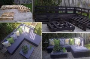 ganitura za sedenje od drvenih paleta
