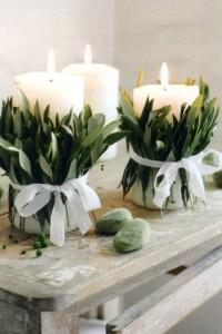 dekorativne sveće na terasi