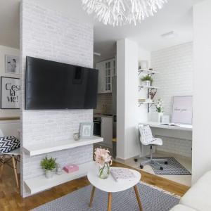 uređenje garsonjere - dnevna soba i radni kutak