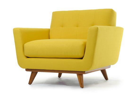 žuta retro fotelja