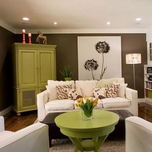 dnevna soba sa zelenim akcentima