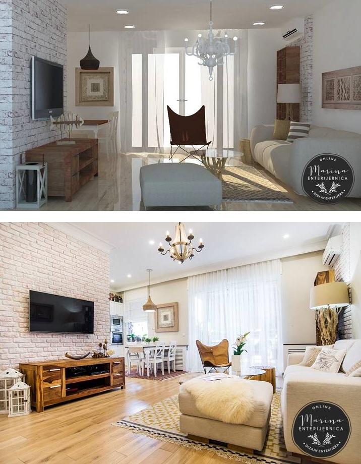 dnevna soba- 3D i izvedeno