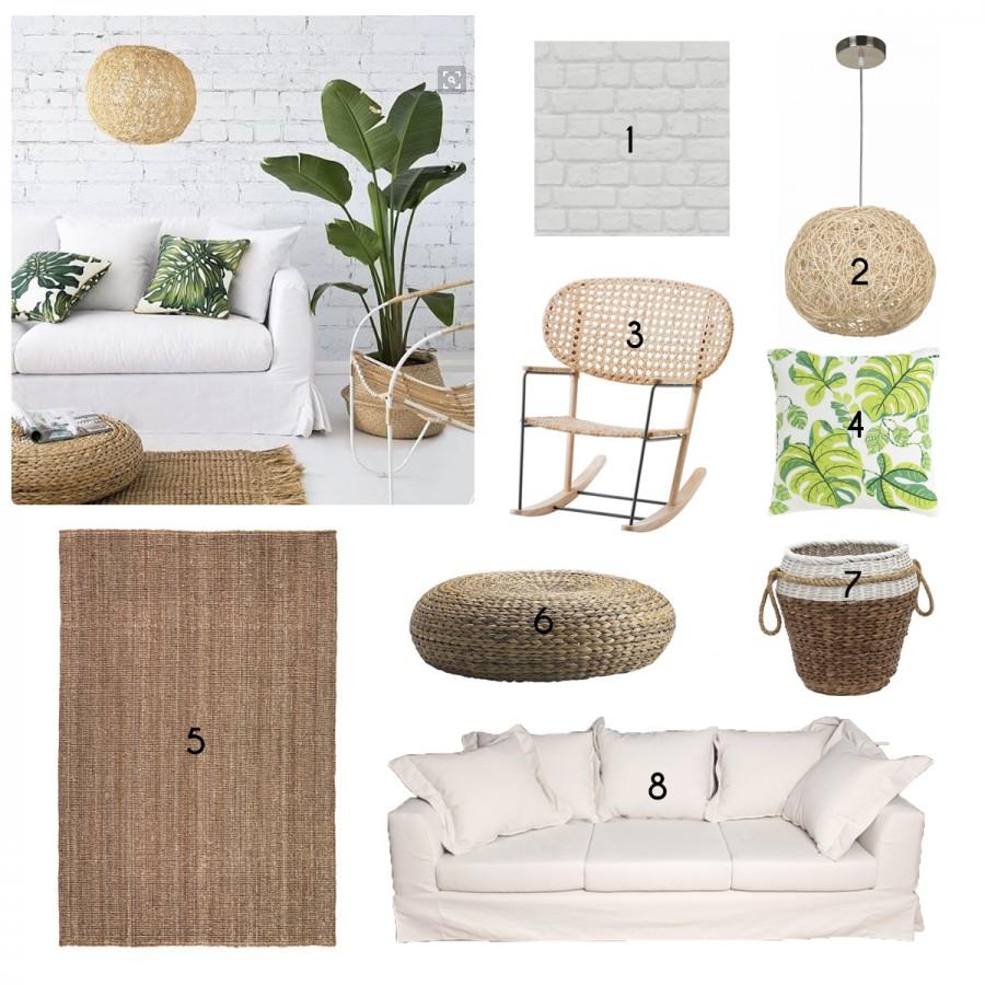 dnevna soba u natur stilu