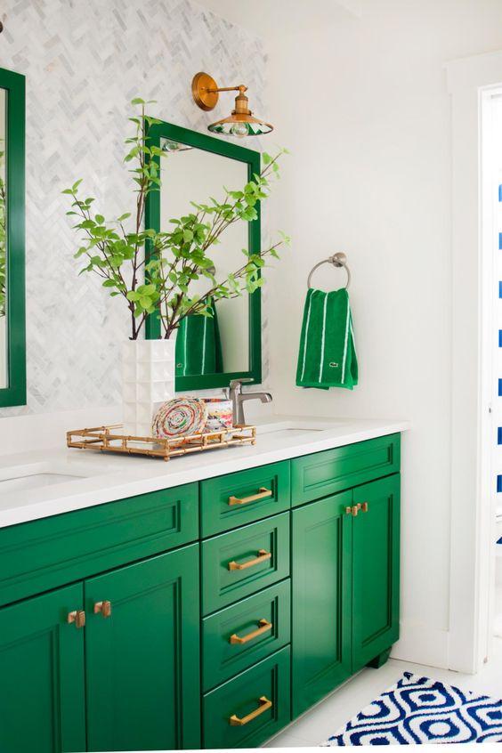 zelena boja u kupatilu