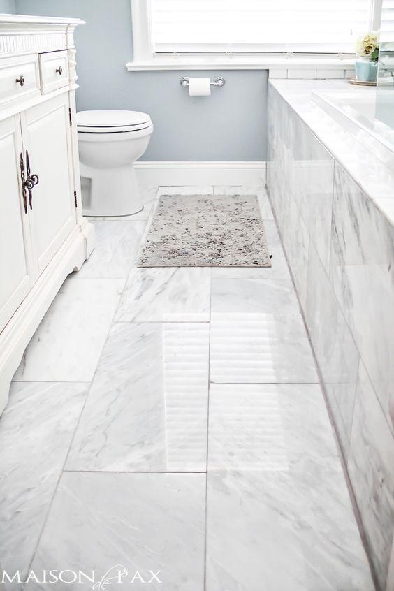 podne plocice u kupatilu imitacija mermera 1