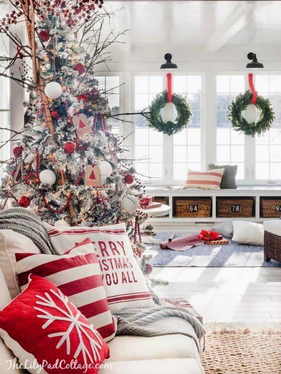 Crveno bela novogodisnja dekoracija 1