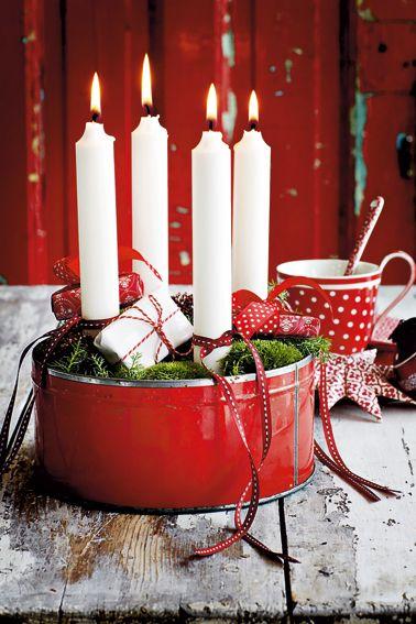 Crveno bela novogodisnja dekoracija 12
