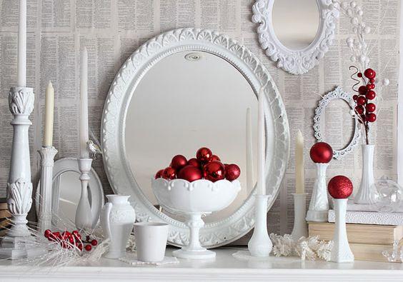 Crveno bela novogodisnja dekoracija 13