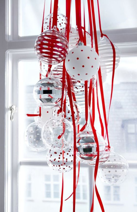 Crveno bela novogodisnja dekoracija 15