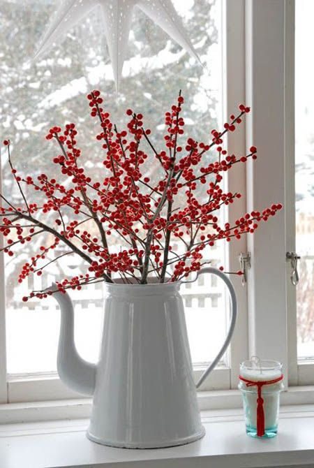 Crveno bela novogodisnja dekoracija 16