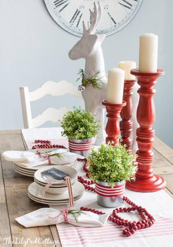 Crveno bela novogodisnja dekoracija 2