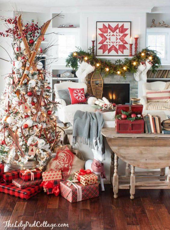 Crveno bela novogodisnja dekoracija 4