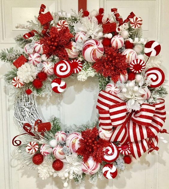 Crveno bela novogodisnja dekoracija 6