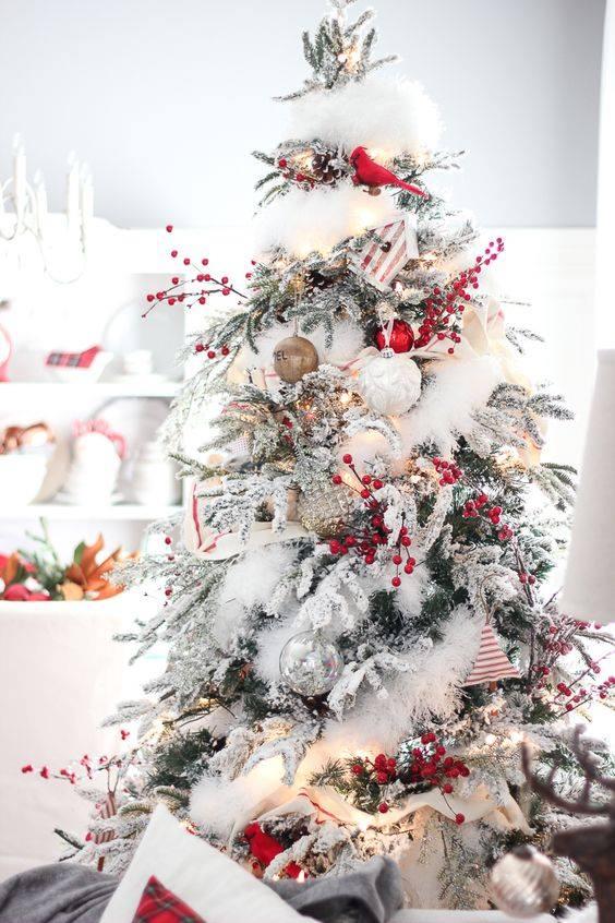 Crveno bela novogodisnja dekoracija 7