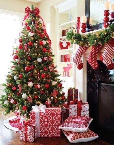 Crveno bela novogodisnja dekoracija 9