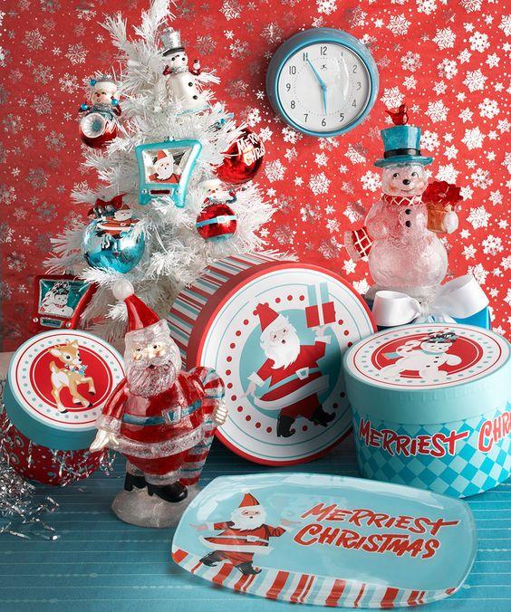 crveno tirkizna novogodišnja dekoracija 10