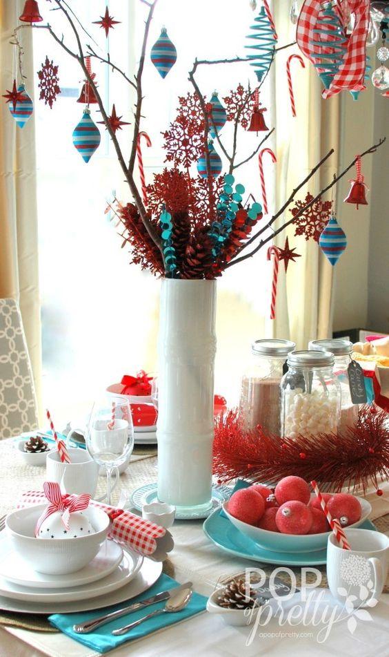 crveno tirkizna novogodišnja dekoracija 6