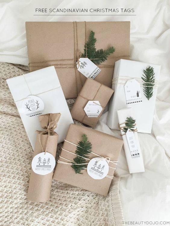 novogodisnja dekoracija_uradi sam_pakovanje poklona_11