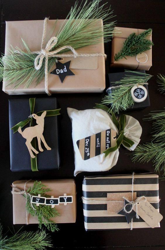 novogodisnja dekoracija_uradi sam_pakovanje poklona_4