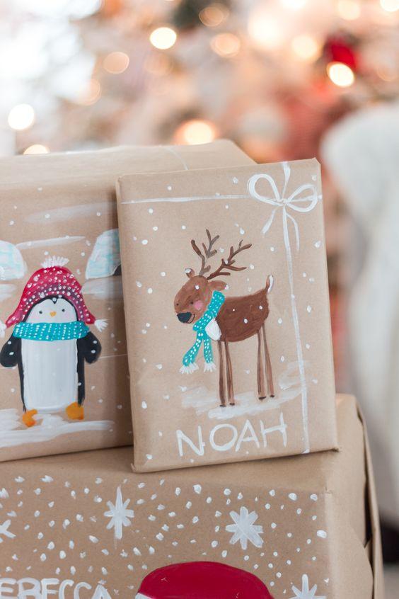 novogodisnja dekoracija_uradi sam_pakovanje poklona_5
