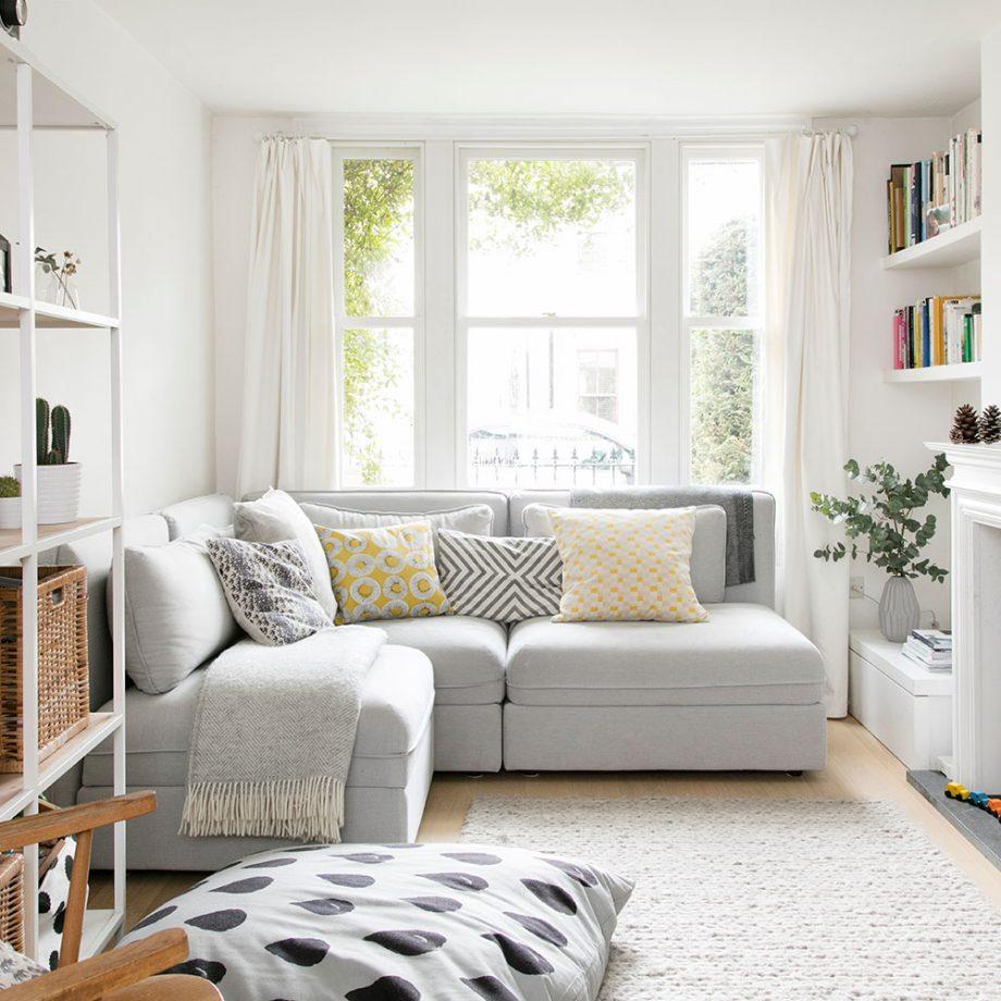 Mala dnevna soba - neutralne boje