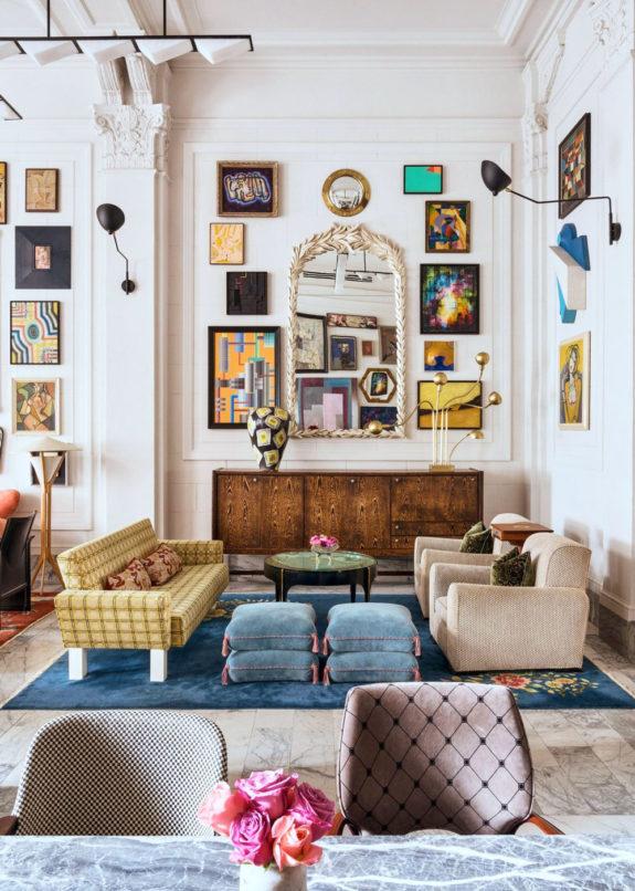 4 eklektični stil dnevna soba