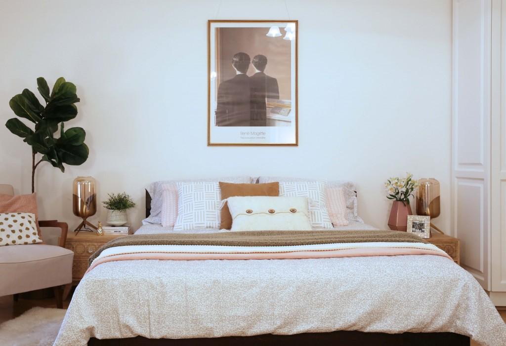 spavaća soba u retro romantik stilu