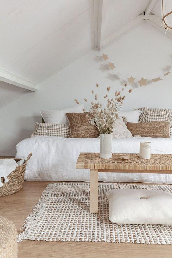15 belo bež spavaća soba